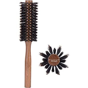 Boar Bristle Round Hair Brush for Blow Drying, 2 Inch, for Blowouts, Styling, Volumizing, Curling Short to Medium, Thin, Thick, Straight, Curly, Normal Hair