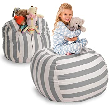 Extra Large Stuff 'N Sit Stuffed Animal Storage Bean Bag Cover By Smith'S Clean Up the Room and Put Those Critters to Work for You (40