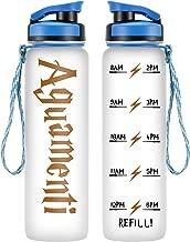 LEADO 32oz 1Liter Motivational Water Bottle w/Time Marker - Aguamenti, HP Merchandise - Funny Mothers Day, Potterhead Birthday Gifts for Women, Men, Best Friends, Mom, Daughters, Dad, Wife, Husband