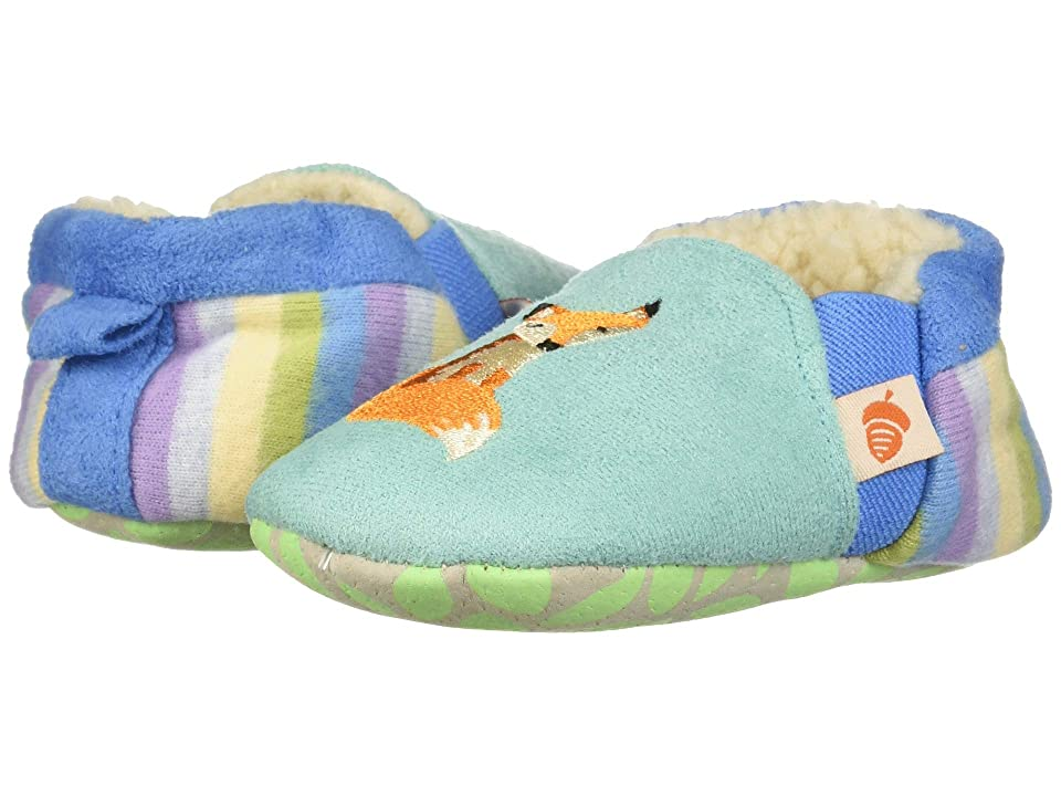 Acorn Kids Easy On Moc Tots (Infant) (Teal Fox) Girls Shoes