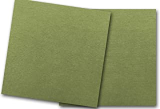 Premium Canvas Textured Moss Green Card Stock 20 Sheets - Matches Martha Stewart Moss - Great for Scrapbooking, Crafts, Flat Cards, Folded Cards, DIY Projects, Etc. (12 x 12)