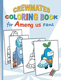 Crewmates Coloring Book for Am@ng.us Fans: drawing, paintbook, painting, App, computer, pc, game, apple, videogame, kids, ...