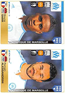 2015-16 Panini FIFA 365 Stickers Soccer #410-411 Bouna Sarr/Romain Alessandrini Trading Card Sized Album Sticker