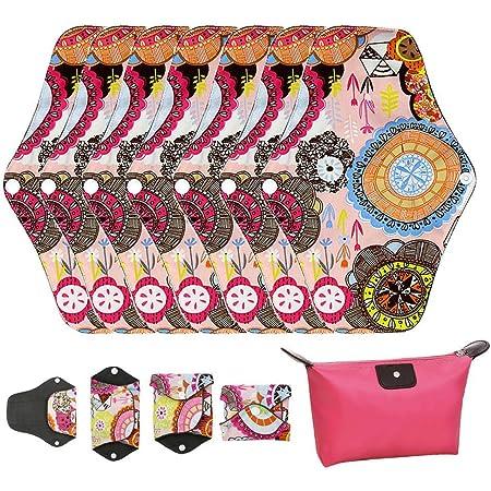 SUPVOX 4pcs fermeture /à glissi/ère p/ériode sacs menstruels pad pochette porte-serviette p/ériode de voyage pour les femmes filles
