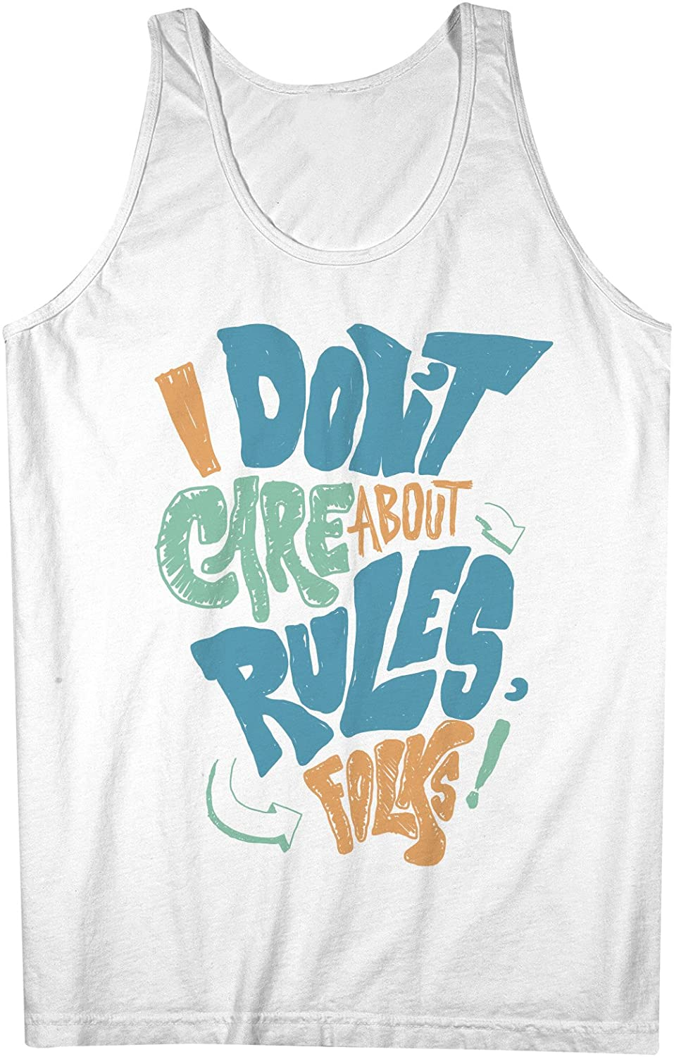 I Don't Care About Rules Folks 男性用 Tank Top Sleeveless Shirt