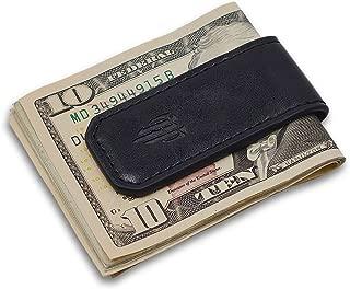 Wallet Money Clip Credit Card holder - Leather Magnetic Cash Holder for Men