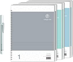 NeoLab Convergence Neo Smartpen N2 (Silver White) with N College Notebooks (3 Pack - 144 College Ruled Pages) Bundle for iOS, Android, Smartphones, Tablets, and Windows