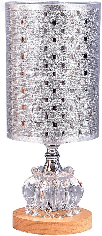 TangMengYun Europische Glas Schreibtisch Lampe, Dimmable Dekorative Licht Nacht Licht, Study Zimmer Wohnzimmer Schlafzimmer neben Lampe Tischlampe (E27) (Farbe   C-14  34CM)