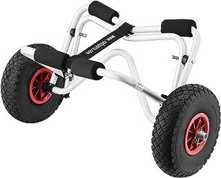 1236 RAD Sportz Kayak Trolley Kayak Cart with Pneumatic Tires 150 LB Capacity Silver