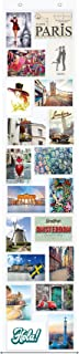 Trendfinding® fotogordijn voor foto's van 10x 15cm, met 20 vakken, combinatie van staande en liggende foto's, ook geschi...