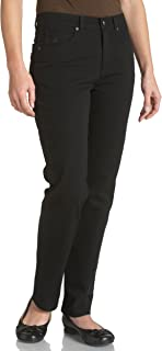 womens Amanda Classic High Rise Tapered Jeans, Black, 8...