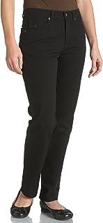 Gloria Vanderbilt womens Amanda Classic High Rise Tapered Jeans, Black, 16 Petite Short US