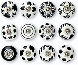 Set of 12 Handmade Knobs | 3 Color Design Ceramic Cabinet Knobs | Drawer Pulls Ideal for Any Home, Kitchen or Office | The...