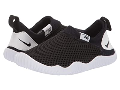 Nike Kids Aqua Sock 360 (Infant/Toddler) (Black/Black/White) Boys Shoes