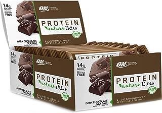 New! Optimum Nutrition Nature Bites, Decadent Protein Snack, Vegan Snack, Gluten Free, GMO Free, Flavor: Dark Chocolate Sea Salt, 9 Count