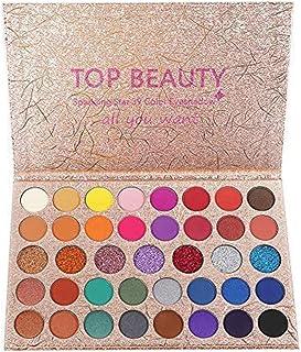 comprar comparacion 40 Paleta de sombras de ojos de colores brillantes Mezcla de brillo y brillo Sombra de ojos Brillo Metálico Impermeable Po...