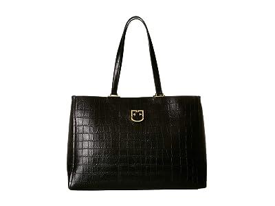 Furla Belvedere Medium Hobo (Onyx) Handbags