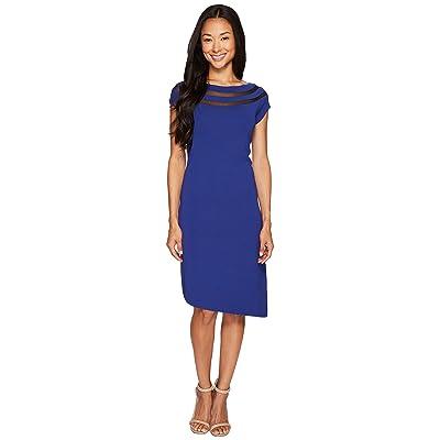 NIC+ZOE Sheer Lines Dress (Blue Roma) Women