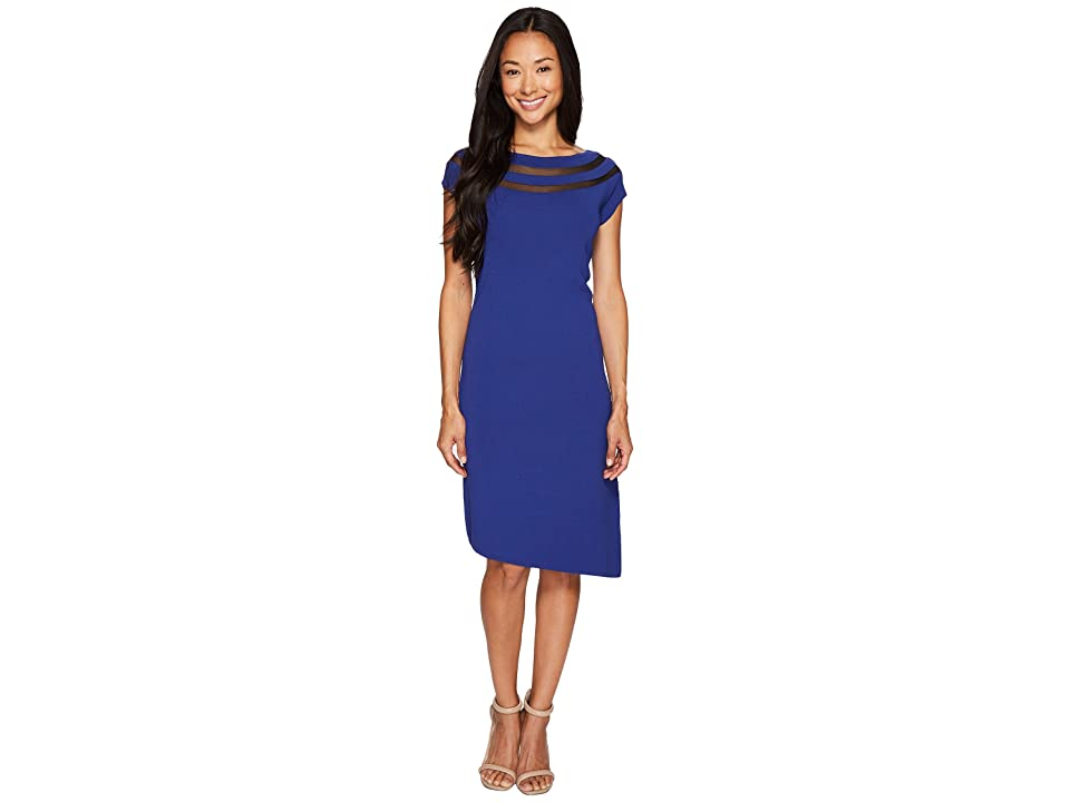 NIC+ZOE Sheer Lines Dress (Blue Roma) Women