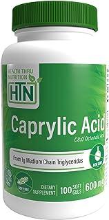 Sponsored Ad - Caprylic Acid 600mg 100 softgels Non-GMO by Health Thru Nutrition