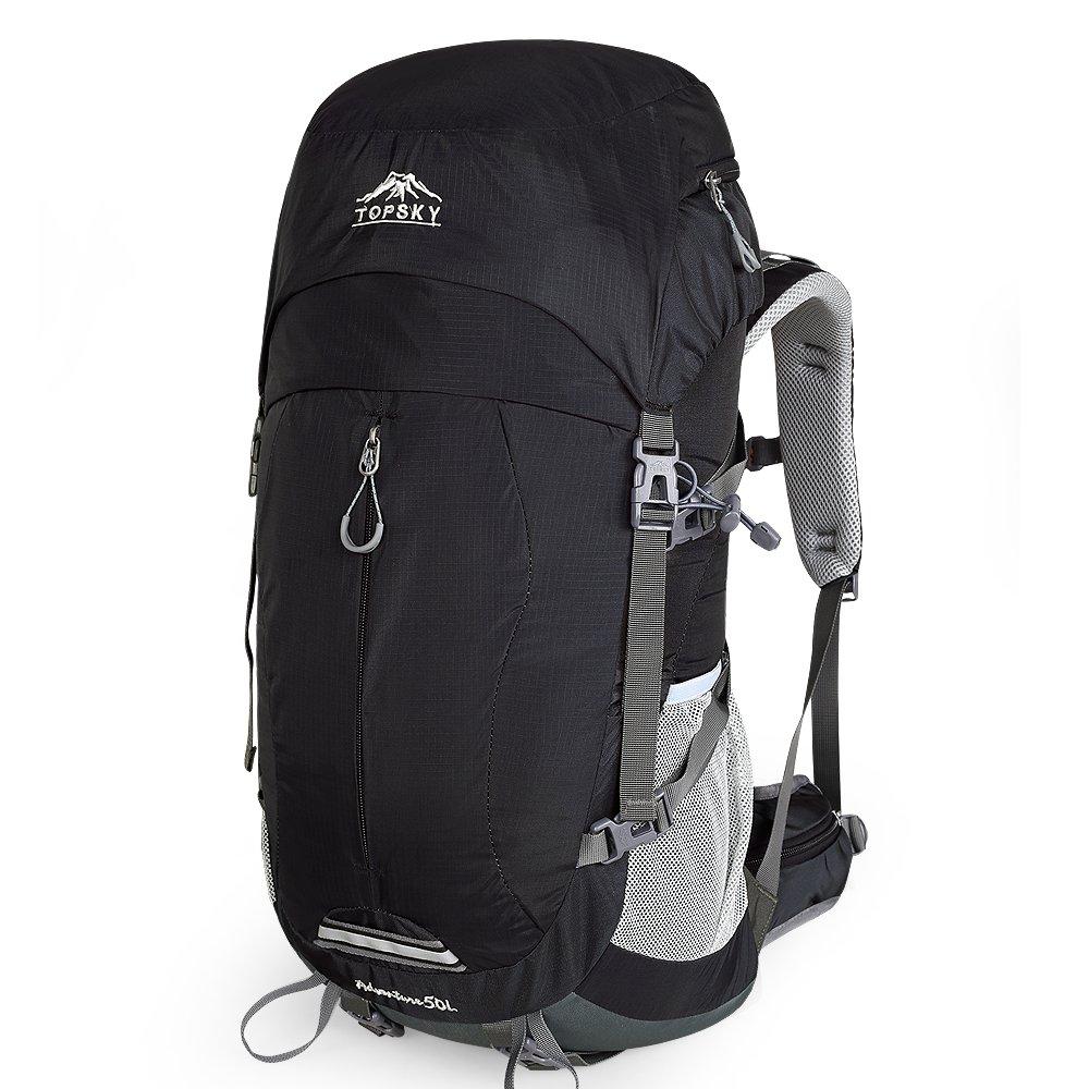 ポケットを送るトップスキー登山バッグ軽量スポーツバッグ男性と女性の多機能屋外バックパックハイキングバッグ大容量バックパックハイキングキャンプ防水リュックサックレジャー旅行荷物バックパック40リットル50 L 30624