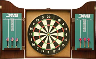 DMI Sports Recreational Dartboard Cabinet Set - Includes Dartboard, Two Dart Sets, and Traditional Chalk Scoring