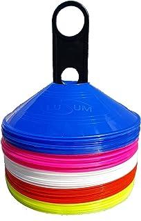 Visiodirect Kit de 40 coupelles Blanches et Bleues avec Support Orange Coloris Jaunes
