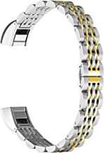 ImmSss Metal Bands Compatible for Fitbit Alta HR and Fitbit Alta for Women Men, Stainless Steel Jewelry Replacement Bracelet Bangle Wristbands