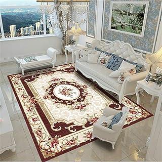 風水 キッチン マット 絨毯 四畳半 サイズラグマット ピンク 120x160cm リビングルームのコーヒーテーブルマットホームソファシンプルモダンなの長方形のウォッシュカーペットシンプル北欧リビングルームポリエステル