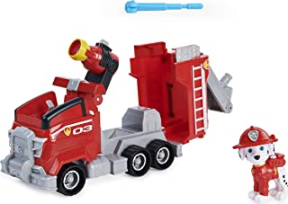 Paw Patrol, Marshall's Deluxe Movie Transforming Fire Truck Toy Car with Collectible Action Figure, Kids Toys for Ages 3 a...