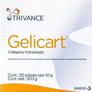 Gelicart Trivance, Polvo de Colágeno Hidrolizado. Suplemento Alimenticio, 30 Sobres, 10 gr cada sobre