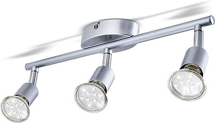 LED Deckenleuchte Schwenkbar inkl. 3 x 3W 250LM GU10 LED Lampen, Warmweiß, LED Deckenlampe, Deckenspot