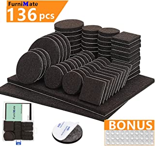 Furniture Pads 136 Pieces Pack Self Adhesive Felt Pad...