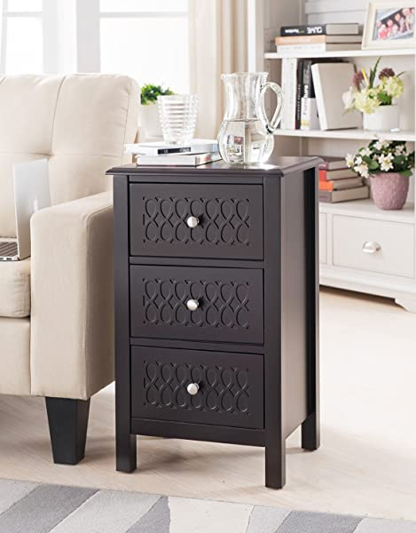 Kings Brand Furniture Accent Side End Table With Drawers Espresso