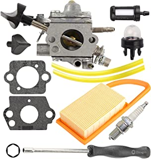 Anzac C1Q-S183 C1Q-S184 Carburetor with Air Filter Tune up kit for Stihl BR500 BR550 BR600 Backpack Blower with Adjusting Tool