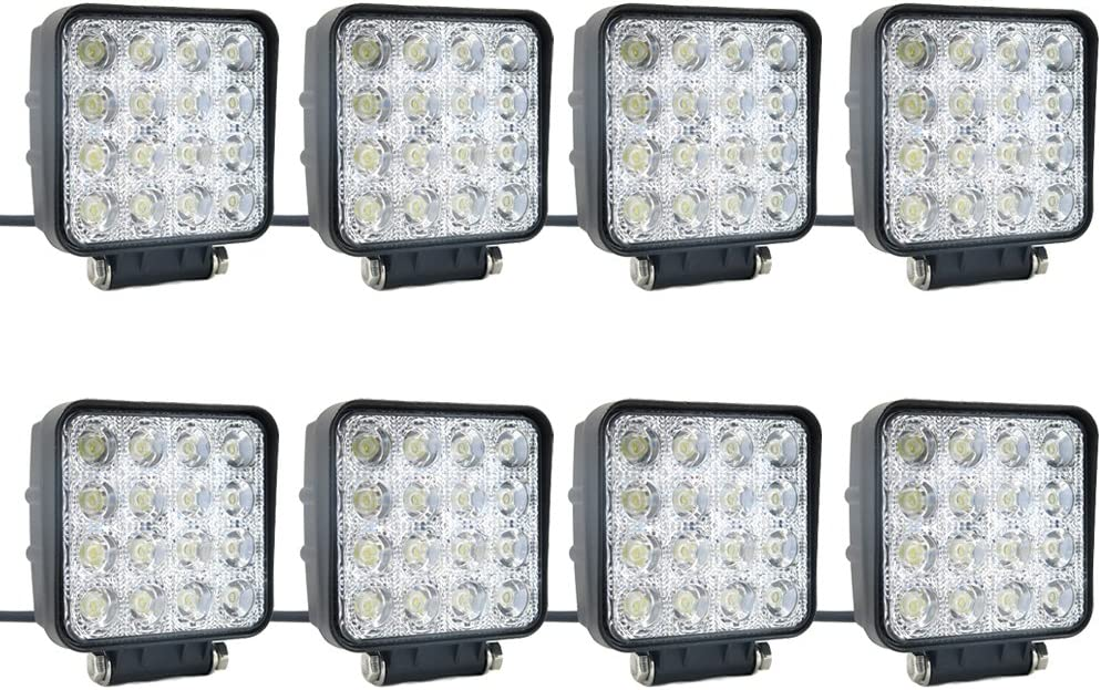 SUCOOL 8 pcs one pack 48w 30 service Lights Degree Square Free Shipping New LED Beam flood