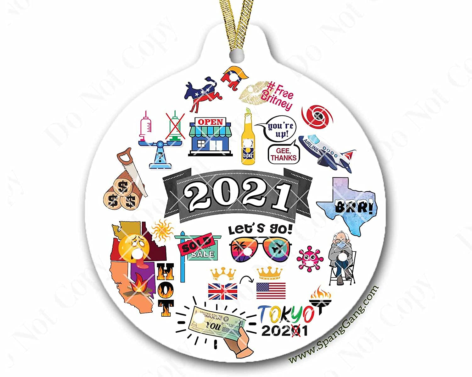 Complete Free Shipping 2021 Christmas Ornament the PANDEMIC ornament Jacksonville Mall ORIGINAL COLLAGE
