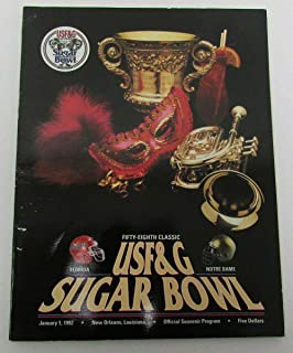 1992 Sugar Bowl Official College Football Program Florida vs Notre Dame 141854 - College Programs