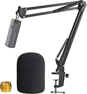 Razer Seiren X Boom Arm with Pop Filter - Mic Stand with Foam Cover Windscreen for Razer Seiren X Streaming Mic by YOUSHARES