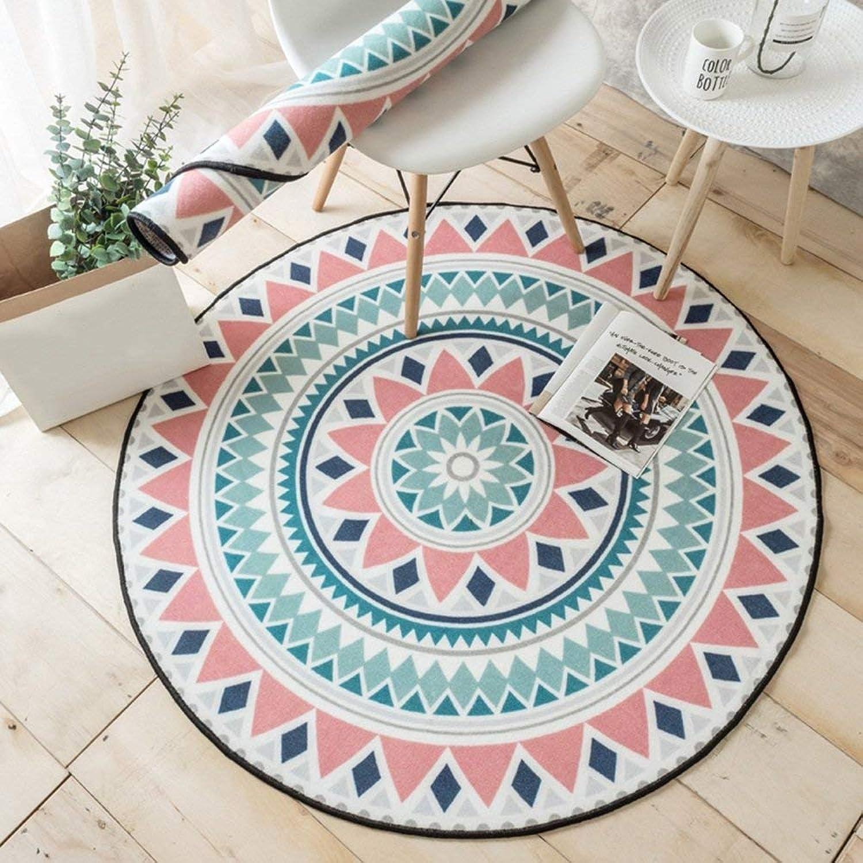DYR Area Rugs Carpet Round Carpet Living Room bluee Modern Small Fresh Hanging Basket (color  B, Size  100  100cm)