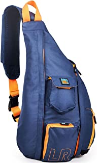 Luck route Shoulder Sling Backpack – Crossbody Bag Women Men Single Strap (Blue)