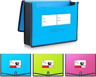 Pochette Plastique,3pcs Haute Qualité imperméable Enveloppe Coloré Chemise à Fermeture élastique Polypropylène Porte-Docum...
