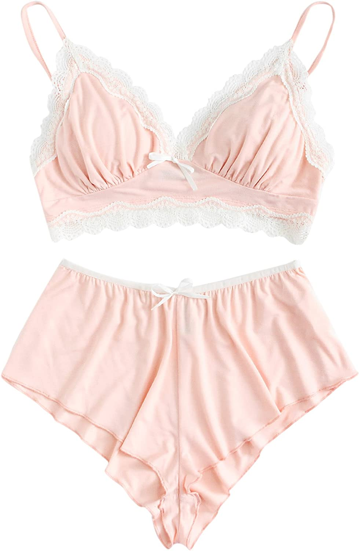 SweatyRocks List price Women's Lace Max 90% OFF Trim Lingerie Straps Bralette Underwear