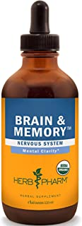 Herb Pharm Brain and Memory Liquid Herbal Formula with Ginkgo for Memory and Concentration- 4 Ounce
