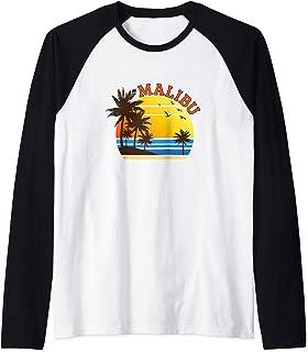 Malibu Rum CA California Beach T-Shirt Surf Travel Souvenir Raglan Baseball Tee