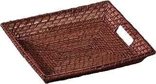 Color: Marr/ón Tama/ño: 33x14x7 Panera alargada rattan bamboo color nogal . Borras Hnos