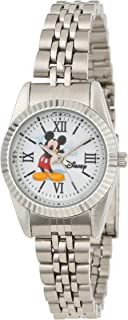 Disney Women's W000581 Mickey Mouse Silver-Tone Status Watch