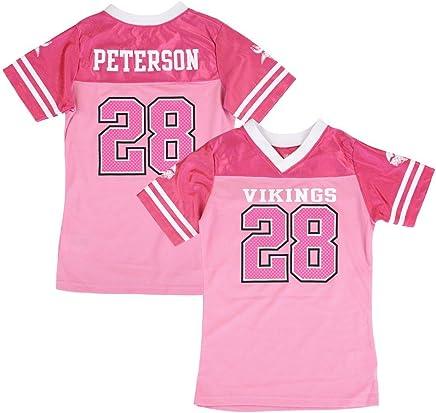 a39a7710938 Adrian Peterson NFL Minnesota Vikings Fashion Pink Jersey Little Girls (4-6)