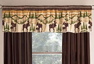 Modern Farmhouse Forest Valance Kitchen, Living Room, Bedroom Bathroom … (Mountain Wildlife)