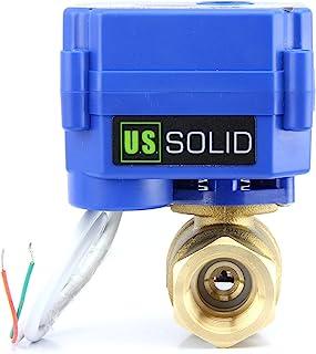 """U.S. Solid 電動ボールバルブ G 1"""" 真鍮 110V AC 電気ボールバルブフルポートで DN25、2線自動復帰、ノーマルクローズ"""
